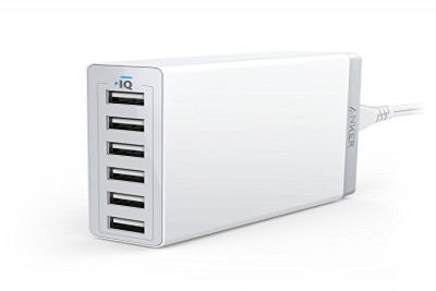 PowerPort 6 60W 6-Port Desktop Charger with 3x PowerIQ 2.4A ports, MultiProtect (White)