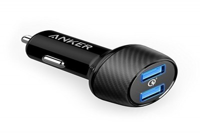PowerDrive Speed with 2x Quick Charge 3.0 3A, PowerIQ 2.4A ports, MultiProtect (Black)