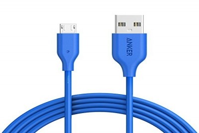 PowerLine Micro USB 5000 bend PVC 0.9m (Blue)