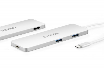 USB-C Hub with HDMI & Power Delivery (Silver)