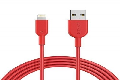PowerLine II Lightning 12000 bend, MFI certified TPE 0.9m (Red)