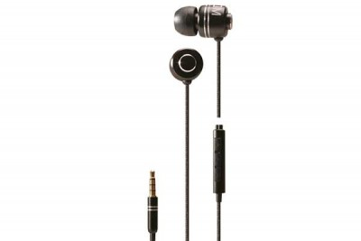 BOOM COMMANDER IN-EAR HEADPHONES WITH MICROPHONE BLACK
