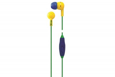 BOOM LEADER IN-EAR HEADPHONES YELLOW WITH MICROPHONE