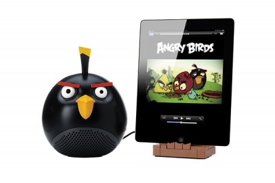 GEAR 4 ANGRY BIRDS - BLACK BIRD SPEAKER DOCK FOR IPHONE, IPAD & ITOUCH