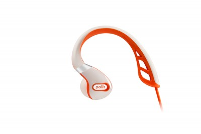 POLK ULTRAFIT 3000 IN EAR HEADPHONES - WHITE/ORANGE