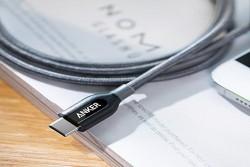 PowerLine+ USB-C to USB-A 3.0 6000 bend Braided Nylon 5GBPS 0.9m (Grey) with Pouch