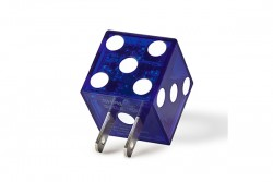 BUQU Dice - Playa Dice Wall Charger - Blue