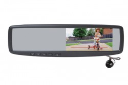 "PARKMATE 4.3"" REAR VIEW MIRROR MONITOR & CAMERA PACK W GRIDLINES"